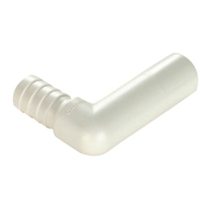 "Picture of Sea Tech 35 Series 1/2"" Copper Tube Male Stem x 1/2"" Hose Barb White Polysulfone Fresh Water 90 013512-1008 10-8184"