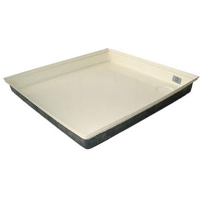 "Picture of ICON  Colonial White 27""x24""x4"" Rectangular Shower Pan 00460 11-0565"