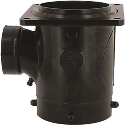 "Picture of Valterra  1-1/2"" Hub Plastic Waste Valve Fitting w/ 3"" Rotating Flange T1011 11-0601"