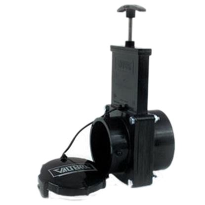 """Picture of Valterra  3"""" Handle Actuated Straight Waste Valve w/Plastic Handle T50 11-0645"""