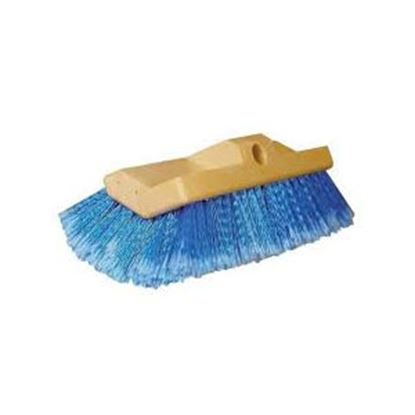 "Picture of Star Brite  10"" Rectangular Blue Medium Polymer Bristle Car Wash Brush Head 040015 13-1554"