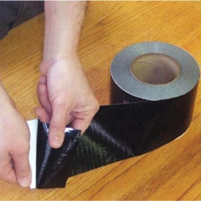 "Picture of AP Products Scrim Shield (TM) Black 4"" W x 180' L Multi Purpose Tape 022-BP4180 13-1610"