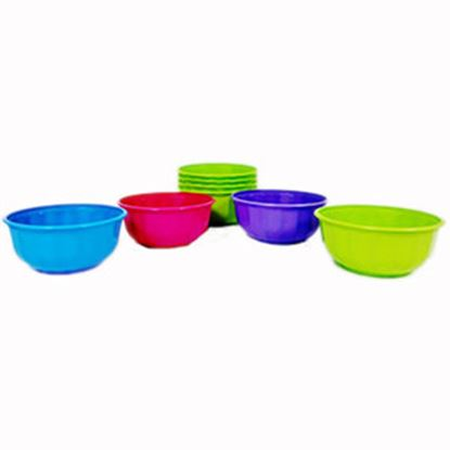 Picture of B&R Plastics  28 Oz Assorted Color Plastic Serving Kitchen Bowl Set FB28-4-36 14-1296