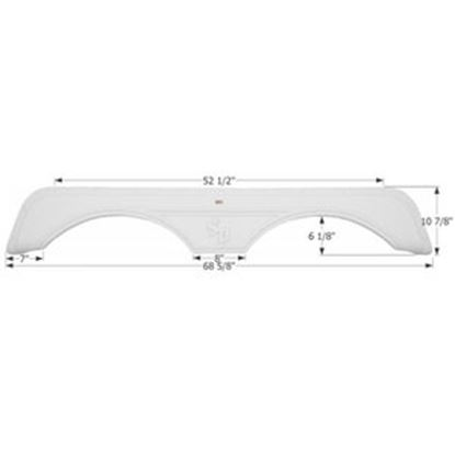 Picture of Icon  Polar White Tandem Axle Fender Skirt For Sunnybrook And Winnebago Brands 12246 14-1584