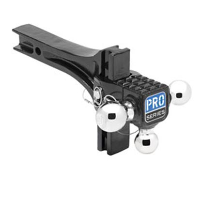 "Picture of Pro Series Hitches  Class III/IV 2"" 2K/10K/14K Adj Steel Triple Ball Mount 63070 14-1975"