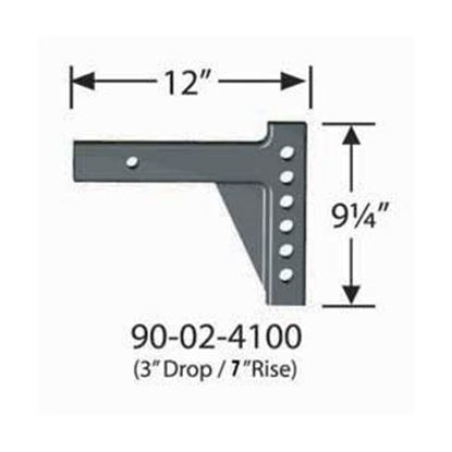 "Picture of Equal-i-zer  12""L x 7"" Rise x 3"" Drop Weight Distribution Hitch Shank 90-02-4100 14-2950"