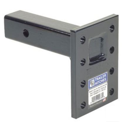 """Picture of B&W Hitches Heavy Duty 16K 3-Position 9"""" Shank Pintle Hook Receiver Mounting Plate PMHD14002 14-3406"""