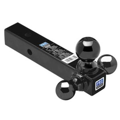 "Picture of Pro Series Hitches  Class III 2"" 2K/6K/10K 8""L Steel Triple Ball Mount 80425 14-7155"