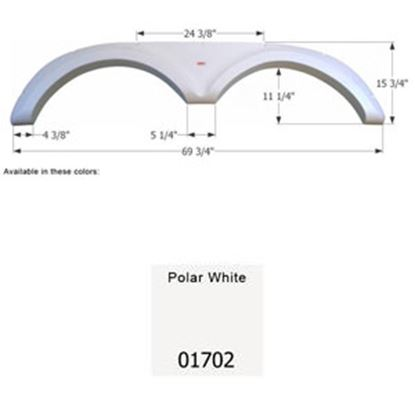 Picture of Icon  Polar White Tandem Axle Fender Skirt For Jayco Brands 01702 15-0567