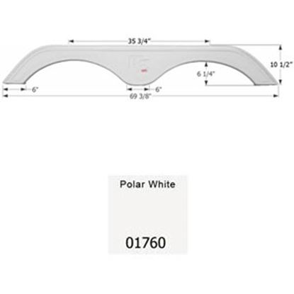 Picture of Icon  Polar White Tandem Axle Fender Skirt For KZ Brands 01760 15-0585