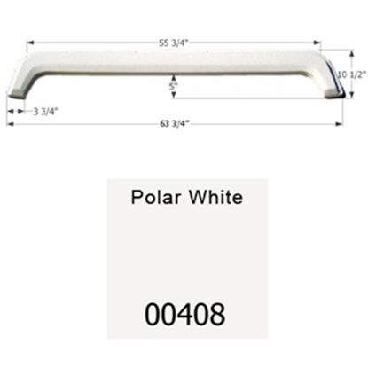 """Picture of Icon  Polar White 63-3/4""""L x 10-1/2""""H Tandem Axle Universal Fender Skirt 00408 15-1610"""