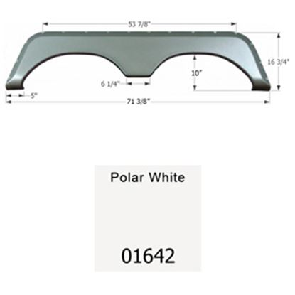 Picture of Icon  Polar White Tandem Axle Fender Skirt For Jayco Brands 01642 15-1635