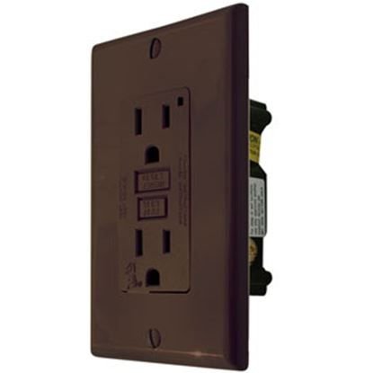 Picture of Diamond Group  Black 120V/ 15A Indoor/Outdoor Single GFI Receptacle DG15VP 15-8380