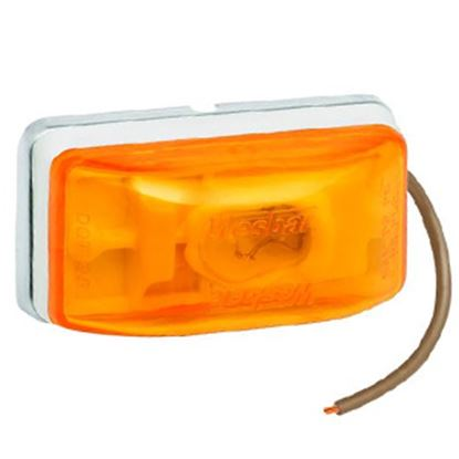 "Picture of Bargman  Amber 2-1/8""x1-1/8""x1-1/16"" Side Marker Light 203233 18-0342"