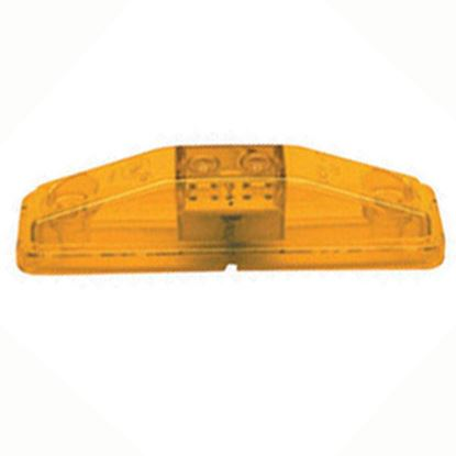 "Picture of Peterson Mfg.  Amber 4-1/16""L x 1-1/16""W x 1-5/16""D Clearance LED Side Marker Light V169KA 18-0383"