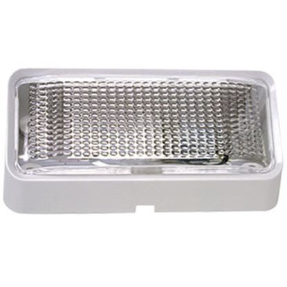 Picture of Peterson Mfg.  Polar White w/Clear Lens Rectangular Porch Light w/o Switch V384 18-1050