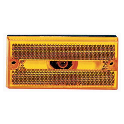 "Picture of Peterson Mfg.  Amber 3.86""L x 1.8""H x 0.4""D Clearance Side Marker Light V132A 18-1411"
