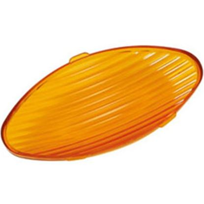 Picture of Green LongLife  Amber Oval Lens For Ming's Mark Porch Light 9090126 18-1452