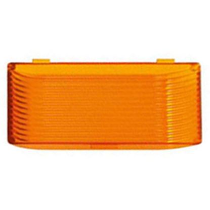 Picture of Green LongLife  Amber Rectangular Lens For Ming's Mark Porch Lights 9090128 18-1454