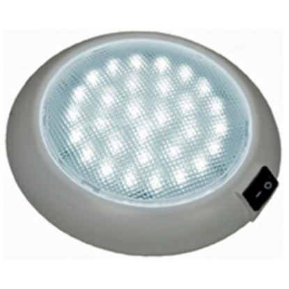 Picture of Peterson Mfg. Great White White 30 LED Dome Interior Light w/ Clear Lens V379S 18-2246