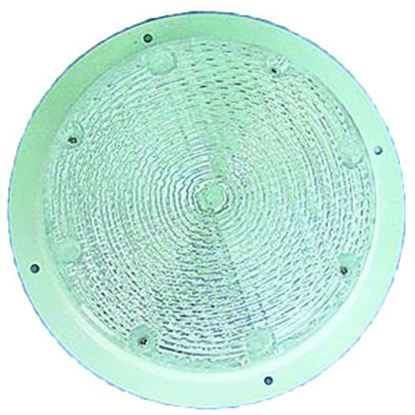 Picture of Command  White w/Clear Lens Round 18 LED Porch Light 007-42L 18-2468