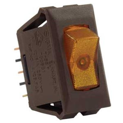 Picture of JR Products  Brown 12V SPST Lighted Single Rocker Switch 12545 19-1851