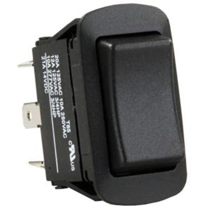 Picture of JR Products  Black 125V/ 20A SPDT Rocker Switch 13845 19-2009