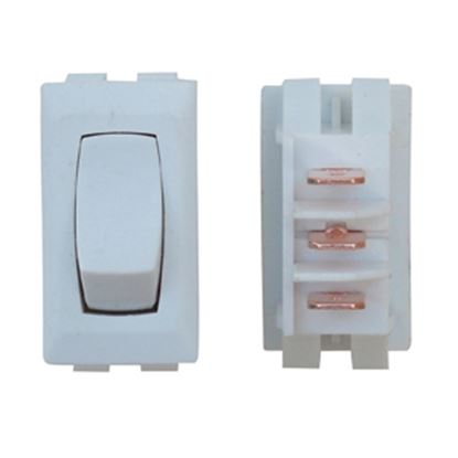 Picture of Diamond Group  1-Piece White SPST Rocker Switch DG41UVP 19-2070