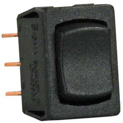 Picture of JR Products  Black 125V/ 13A SPDT Rocker Switch 13335 19-2123