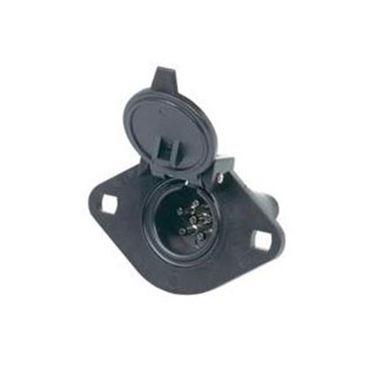 Picture of Hopkins  6-Pole Round Car End Trailer Connector 48425 19-2423