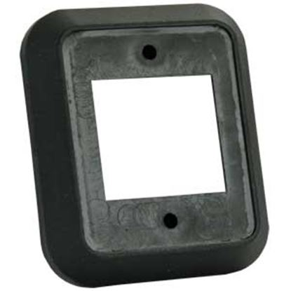 Picture of JR Products  Black Double Rocker Opening Switch Plate Cover 13525 19-2796