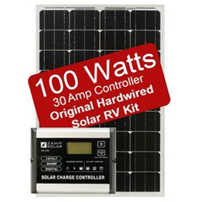 Picture of Zamp Solar  100W/ 5.6A Hardwired Solar Kit  19-4043