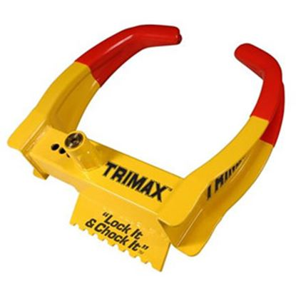 "Picture of Trimax Locks  Lock it and Chock it!"" Wheel Chock Lock TCL65 20-0420"