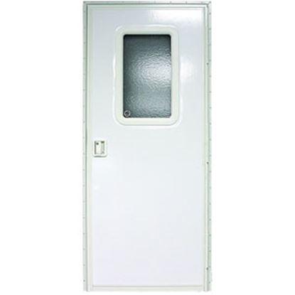 "Picture of Lippert  Polar White Left Opening 24""W x 70""H Radius Entry Door V000381477 20-1456"