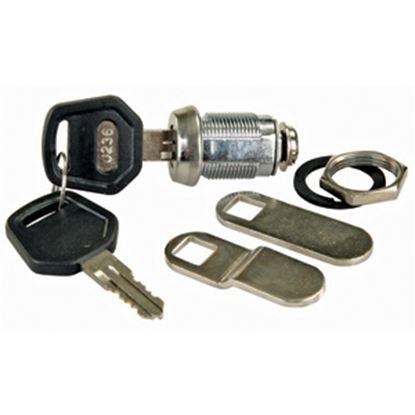 "Picture of JR Products  1-1/8"" Standard Key Baggage Door Lock 00175 20-1653"