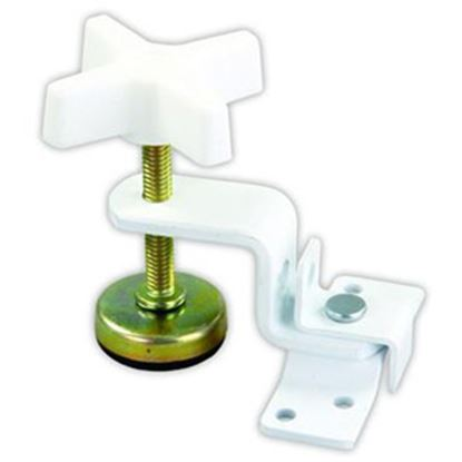 """Picture of JR Products  3.15"""" Spacing White Fold-Out Bunk Clamp 20775 20-1955"""