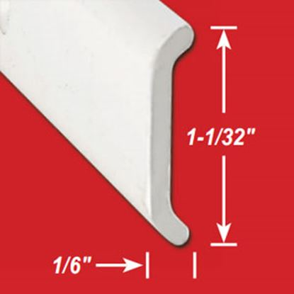 "Picture of AP Products  1-1/32""W x 1/6""T x 8'L Aluminum Flat Trim 021-87203-8 20-6905"
