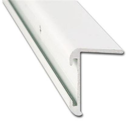 "Picture of AP Products  31/32""W x 16'L x 1-1/4""H Black Aluminum Long Leg Insert Corner Trim 021-85202-16 20-6982"