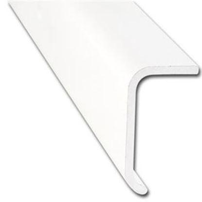 """Picture of AP Products  1-2/5""""W x 3/4""""T x 16'L Polar White Aluminum Long Leg Trim 021-86101-16 20-6992"""
