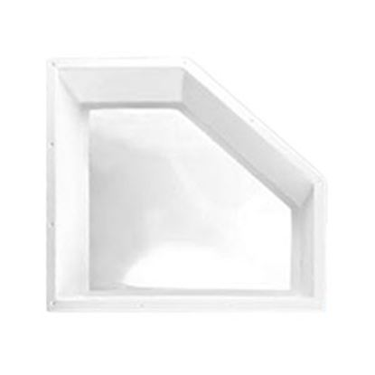 """Picture of Specialty Recreation  4""""H Bubble Dome Neo Angle White PC Skylight w/24"""" X 11"""" Flange NN208 22-0076"""