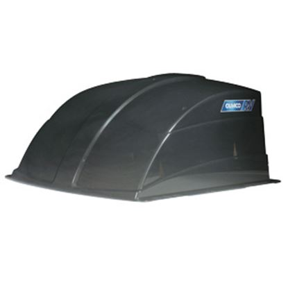 "Picture of Camco  Exterior Dome Smoke 1 Side Vented Roof Cover For 14"" X 14"" Vents 40453 22-0258"