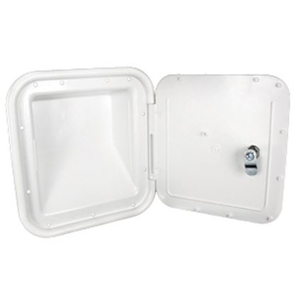 "Picture of JR Products  Polar White 7""RO Lockable Shroud Back Gas Fill Access Door 31102-A 22-0557"