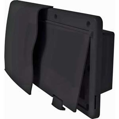 """Picture of JR Products Endura Black 12-9/16""""W X 5-7/8""""H X 5/8"""" Flange Wall Vent 50025 22-0676"""