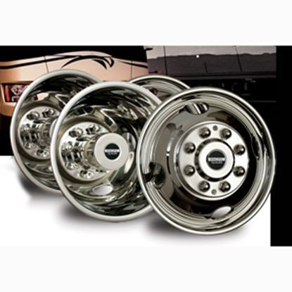 "Picture of Pacific Dualies  4-Set 16"" 8 Lug Bolt-On Wheel Simulator 29-1608 25-1010"