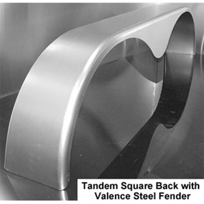 "Picture of ConnX  72"" Long Radius Tandem Teardrop Trailer Fender for 14"" to 15"" Wheels MFS069 25-4011"