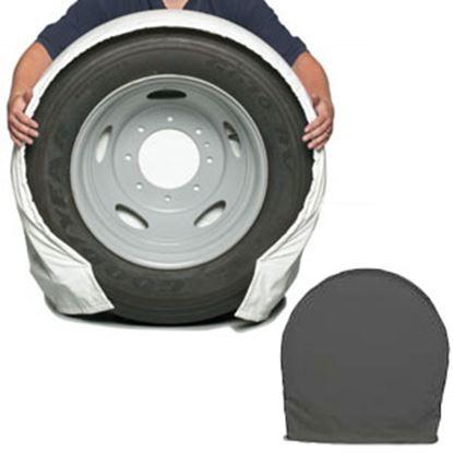 "Picture of CoverCraft SnapRing TireSavers Set of 2 Black Vinyl 30""-32"" DiaTire Covers ST7002BK 46-0050"
