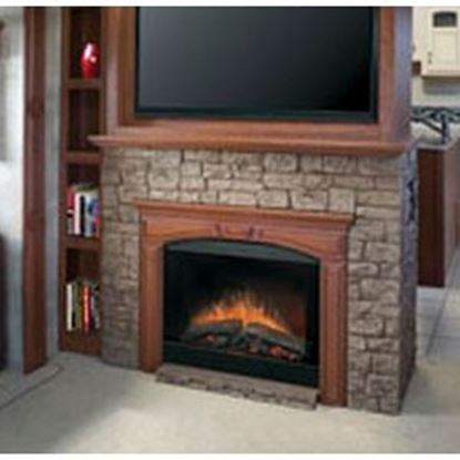 Picture of Wesco Dimplex 4777 BTU Black Plug-In Mount Electric Fireplace Insert  55-0602