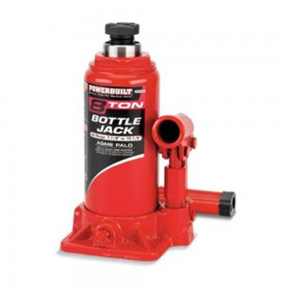 "Picture of AllTtrade Powerbuilt (R) Adjustable 7-7/8-15-1/2""Height 8 Ton Bottle Jack 647527 69-0262"