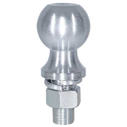 "Picture of Buyer's  6K lbs. 2-1/8"" Shank 2-5/16"" x 1"" Lift Zinc Hitch Ball 1802162 69-0626"