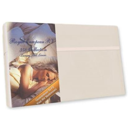 "Picture of Custom Recreation  Champagne Mist 350 TC 49"" x 75"" Dinette Bed Sheet RV49X75/CM 69-1177"
